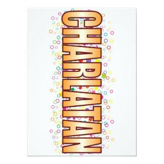 Charlatan Bubble Tag 14 Cm X 19 Cm Invitation Card