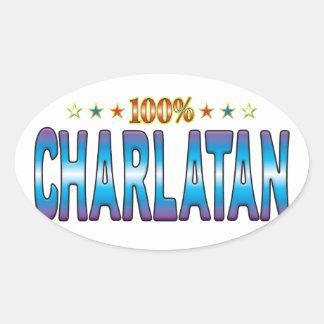 Charlatan Star Tag v2 Oval Sticker