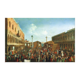 Charlatans in the Piazzetta San Marco, Venice Canvas Print