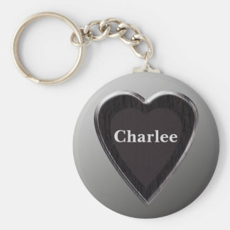 Charlee Personalized Heart Keychain by 369MyName