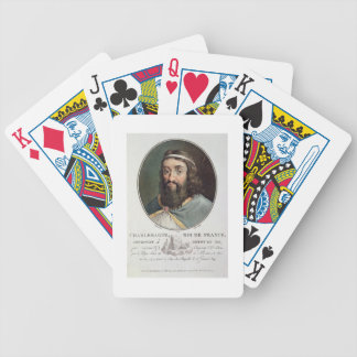 Charlemagne (747-814), King of France, engraved by Bicycle Playing Cards