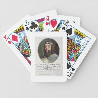 Charlemagne (747-814), King of France, engraved by Poker Deck