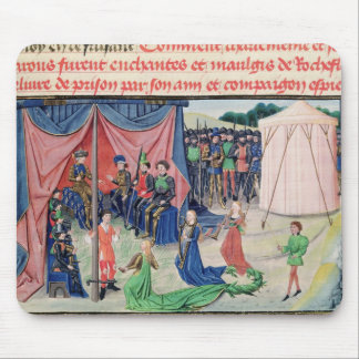 Charlemagne and his barons being enchanted mouse mat