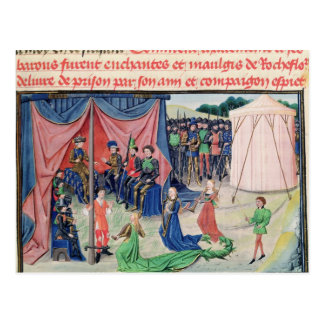 Charlemagne and his barons being enchanted postcard