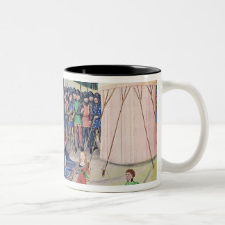 Charlemagne and his barons being enchanted Two-Tone coffee mug