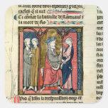 Charlemagne sending Ganelon Square Sticker