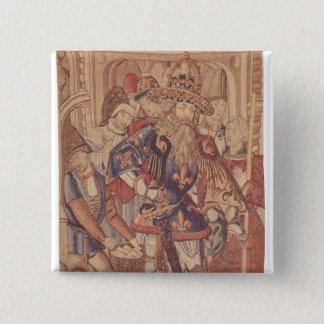 Charlemagne  Tournai Workshop 15 Cm Square Badge