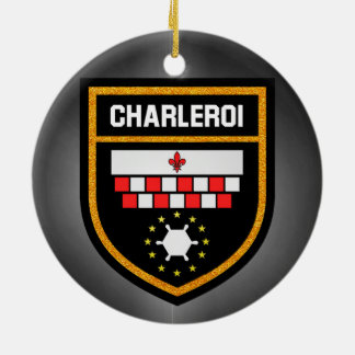 Charleroi Flag Round Ceramic Decoration