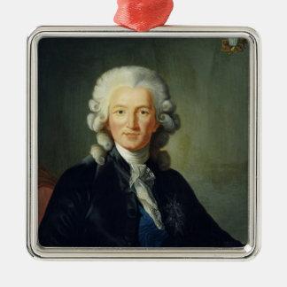 Charles Alexandre de Calonne Silver-Colored Square Decoration