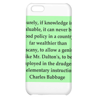 Charles Babbage quote iPhone 5C Cover