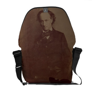 Charles Baudelaire (1820-1867), French poet, portr Commuter Bags