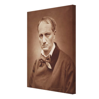 Charles Baudelaire 1821-67 French poet portrai Stretched Canvas Print