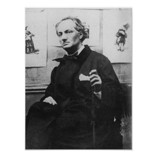 Charles Baudelaire  with Engravings, c.1863 Posters