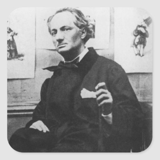 Charles Baudelaire  with Engravings, c.1863 Stickers