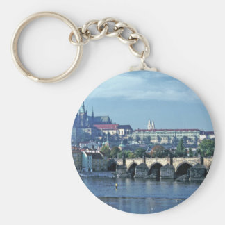 Charles Brdge Prague Castle Tom Wurl.jpg Basic Round Button Key Ring
