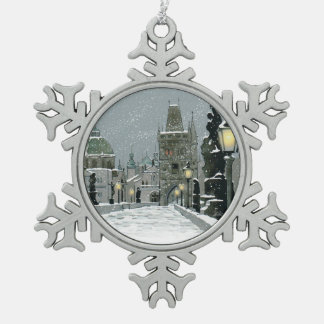 Charles Bridge Pewter Ornament