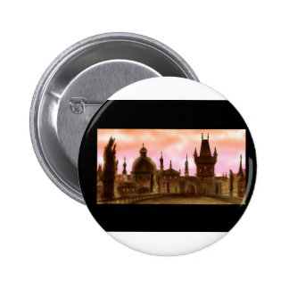 charles bridge prague 6 cm round badge