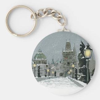 Charles Bridge Winter key chain