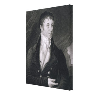 Charles Brockden Brown (1771-1810) engraved by Joh Canvas Print