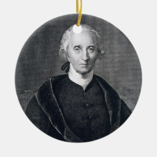 Charles Carroll of Carrollton, engraved by Asher B Round Ceramic Decoration