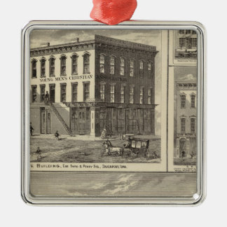 Charles City, and buildings Christmas Ornament