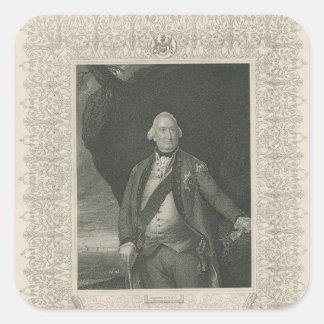 Charles Cornwallis Square Sticker