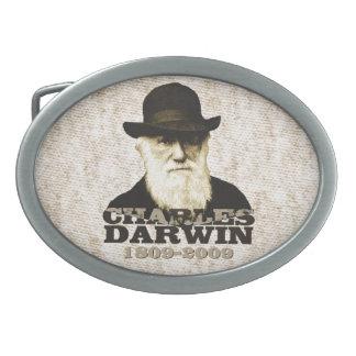 Charles Darwin Bicentennial Oval Belt Buckle