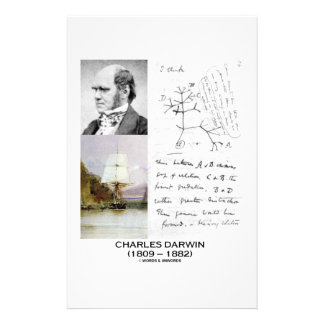 Charles Darwin (Darwin HMS Beagle Phylogenetics) Customised Stationery