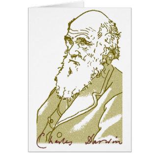 Charles Darwin. Note card