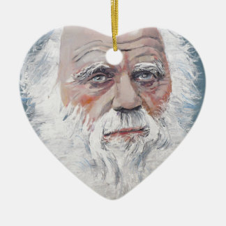 charles darwin - oil portrait christmas ornament