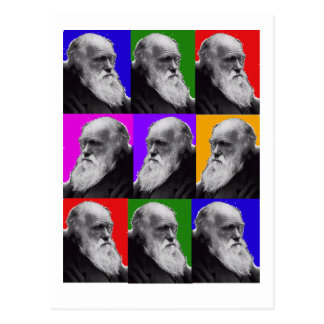 Charles Darwin Pop Art Gifts for All Ages Postcard