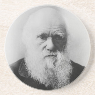 Charles Darwin Portrait by Elliott and Fry Coasters