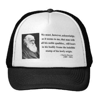 Charles Darwin Quote 1b Cap