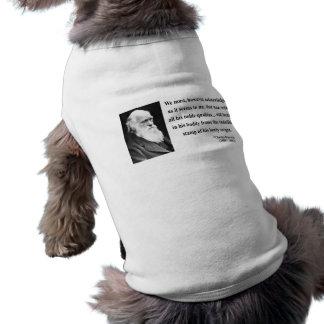Charles Darwin Quote 1b Sleeveless Dog Shirt