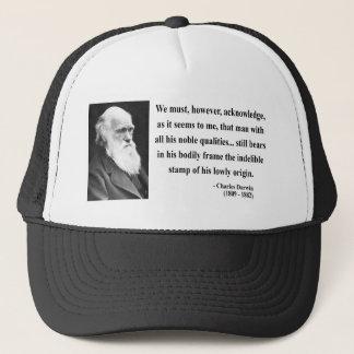 Charles Darwin Quote 1b Trucker Hat