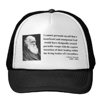 Charles Darwin Quote 2b Cap