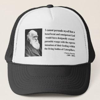 Charles Darwin Quote 2b Trucker Hat