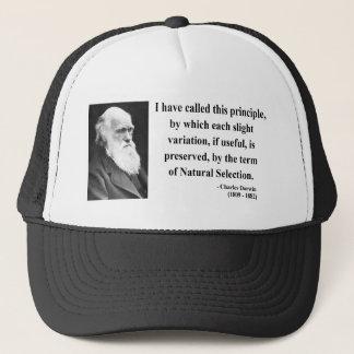 Charles Darwin Quote 6b Trucker Hat