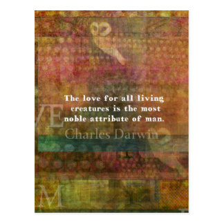 Charles Darwin  Quote about animals Postcard