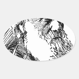 Charles Darwin Oval Sticker