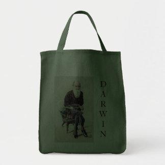 Charles Darwin Vanity Fair Illustration Canvas Bags