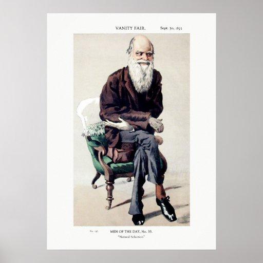 Charles Darwin Vanity Fair Illustration Posters