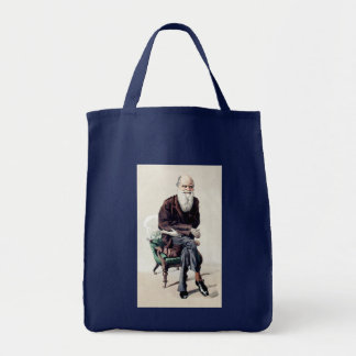 Charles Darwin Vanity Fair Illustration Canvas Bag