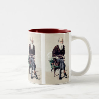 Charles Darwin Vanity Fair Illustration Two-Tone Coffee Mug