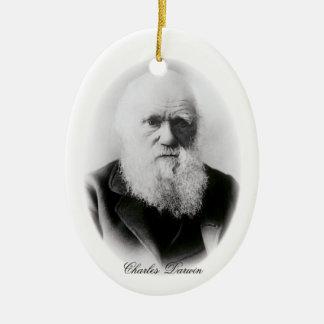 Charles Darwin Vignette Ceramic Oval Decoration
