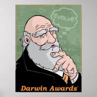 Charles Darwin's Advice Poster