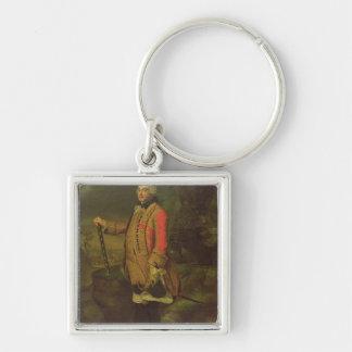 Charles de Rohan  Prince de Soubise Silver-Colored Square Key Ring