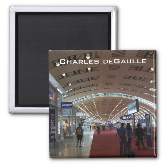 Charles deGaulle International Airport Square Magnet