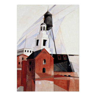 Charles Demuth painting, Lancaster Poster