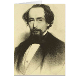 Charles Dickens, 1858 Card
